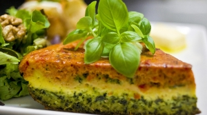 Read full article: Veggie Frittata With Asiago Cheese