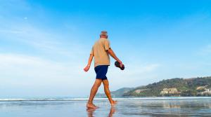 older man on beach