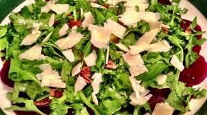 Read full article: Beet Salad with Mushrooms, Goat Cheese and Arugula