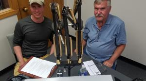 Joseph Gerbyshak and Dave Carlson in studio