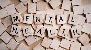 Scrabble tiles spelling mental health