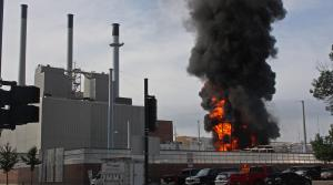 Fire at Madison Gas and Electric