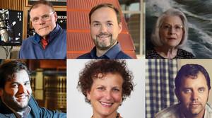 Photos clockwise from upper left: Spectrum West host Al Ross, Jason Jon Anderson, Charlotte Schuld, Evan Middlesworth, Anne Katz and Lucas Chase