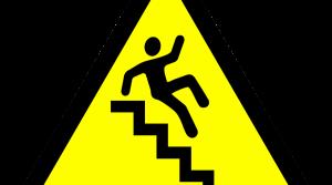 Falling havard sign.