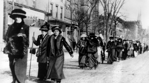 Suffragists march in New York