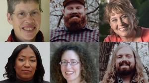 Clockwise from the left upper corner. Ellen Terwilliger, Jens Steff, Melinda Myers, Soren Steff, Lauren Fox and Brit Bennett.