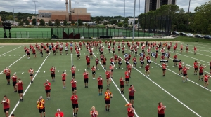 UW-Madison marching band rehearses