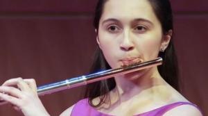 Flutist Holly Venkitaswaran