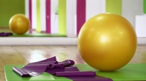 exercise ball and band