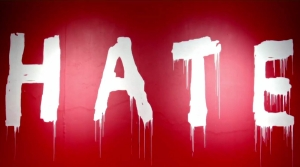 "The word ""hate"" as graffiti"