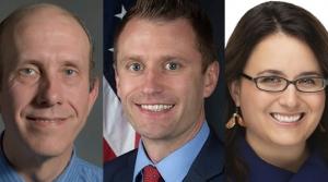 Wisconsin Rapids Mayor Shane Blaser, Mosinee Mayor Brent Jacobson and Wausau Mayor Katie Rosenberg