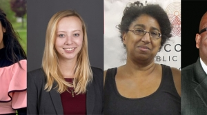 From left to right: Youssrra Bentaalla, Madeline Fuerstenberg,Selika Ducksworth Lawton and Warren Anderson.