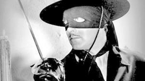 Promotional image of Zorro for radio