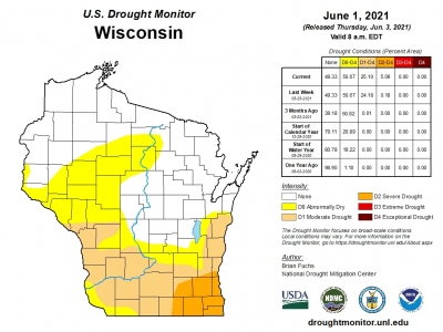 drought conditions map