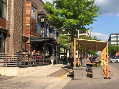 La Crosse Distilling Co. added more outdoor seating during the pandemic.