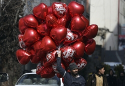 Man selling ballons
