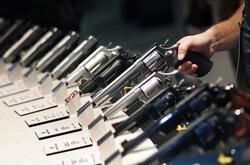 Guns display at gun show