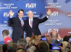 Mike Pence and Scott Walker