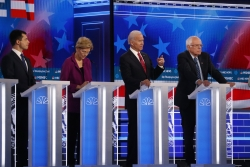 Four Democratic presidential primary candidates debate
