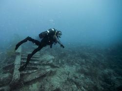 diver over wreck