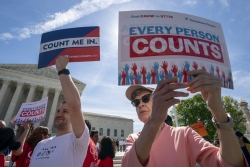 Activists advocating for a complete US census count