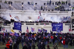 Violent protesters, loyal to President Donald Trump, storm the U.S. Capitol.