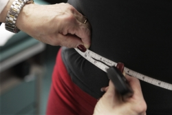 a waist is measured to prevent obesity