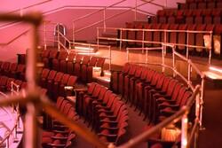 empty seats in the Belle Mehus Auditorium