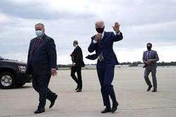 Joe Biden arrives at General Mitchell International Airport