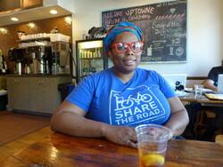 Adrain Lipscombe at Uptowne Cafe & Bakery in La Crosse