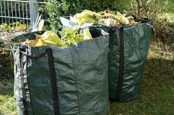 Bags of garden waste.