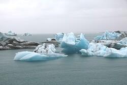 Melting ice in ocean.