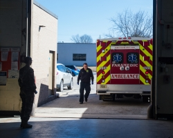 Lake Country Fire Department ambulance, rural ems, coronavirus, pandemic