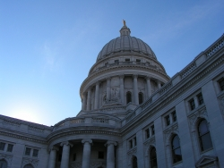 The Wisconsin Capitol building
