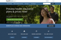 Image of the homepage of healthcare.gov