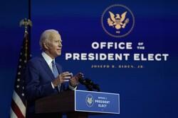 President-elect Joe Biden speaks at a podium