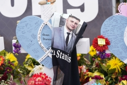 Memorial to mass shooting victims in Boulder, Colorado