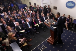President Obama at a press conference