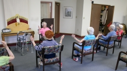 Women at retirement center