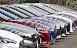 Cars in a car lot