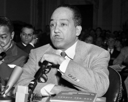 Langston Hughes testifies before Congressional committee