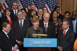 Senator Baldwin and members of Congress announce Equality Act