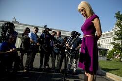 Kellyanne Conway speaking to reporters