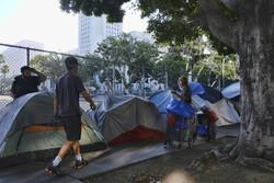 Homeless encampment in LA
