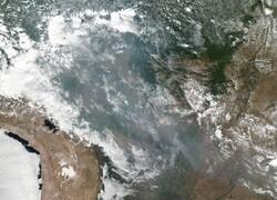 Satellite image of fires in Brazil