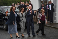 Mike Pence and family arrive in Ireland