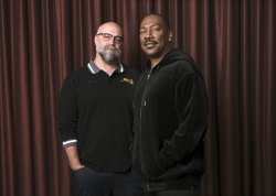 "Eddie Murphy, right, star of the film ""Dolemite Is My Name,"" with director Craig Brewer"