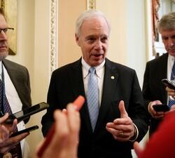 Sen. Johnson speaks to reporters about impeachment