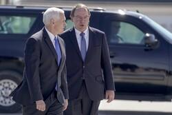 Vice President Mike Pence Walks With Representative Tom Tiffany