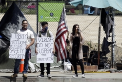 People in California protest pandemic restrictions